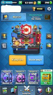 Clash Royale Account Level 12