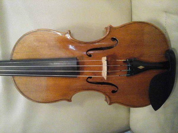 Sehr schöne Geige Etikett Rom