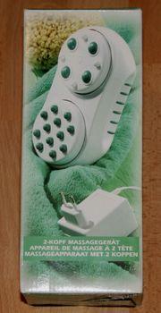Hand-Massage-Gerät - 2-Kopf Massage-Gerät - mit Netz-Adapter