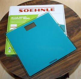 Soehnle Style Sense Compact 200 Digitale Personenwaage Glaswaage LCD Körperwaage 180kg Ocean Green