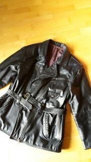 Lederjacke schwarz Größe 42