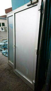 Aluminium Tür mit Seitenteil 173