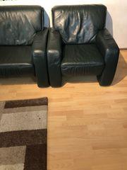 Dunkel grün Leder Sofa 4