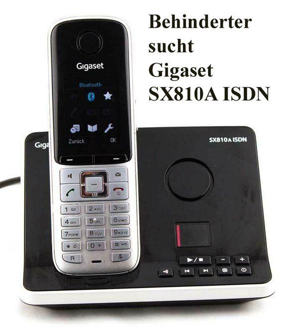 Behinderter sucht Telefon von Gigaset SX810A ISDN