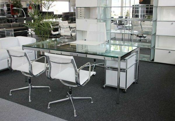 USM Haller Tisch Schreibtisch Glas