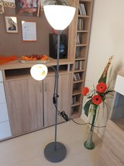 Stehlampe mit Leselampe incl Leuchtmittel