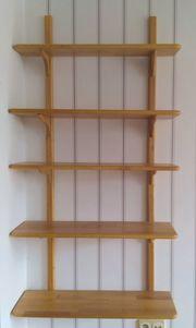 Bücherregal Wandregal Massivholz Nichtraucherhaushalt