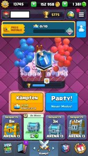 Clash Royale Account Konto Level 13