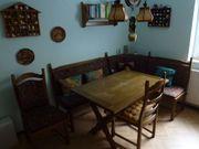 rustikale Eßecke mit 2 Stühle