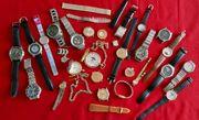 Uhren Konvolut Quarz Handaufzug Taschenuhren
