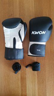 Boxhandschuhe KWON 10 OZ Bandagen