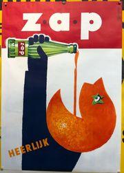 Altes Reklame Plakat Zap Heerlijk