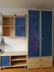Kleiderschrank inkl Wandregal und Lowboard
