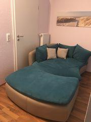 Fernsehsofa Sofa Couch mit Fußteil