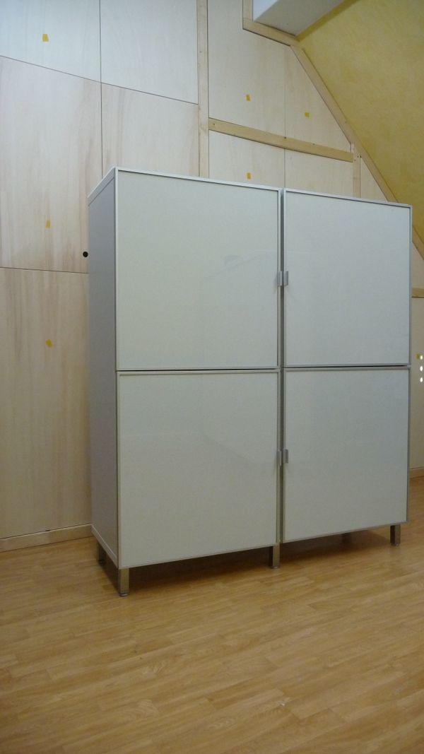 Ikea Wohnzimmerschrank weiß, System Besta (zwei Stück vorhanden,auch ...