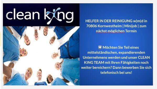 Minijob 70806 Kornwestheim Helfer Reinigung