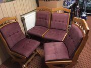 6 schöne Eiche Stühle
