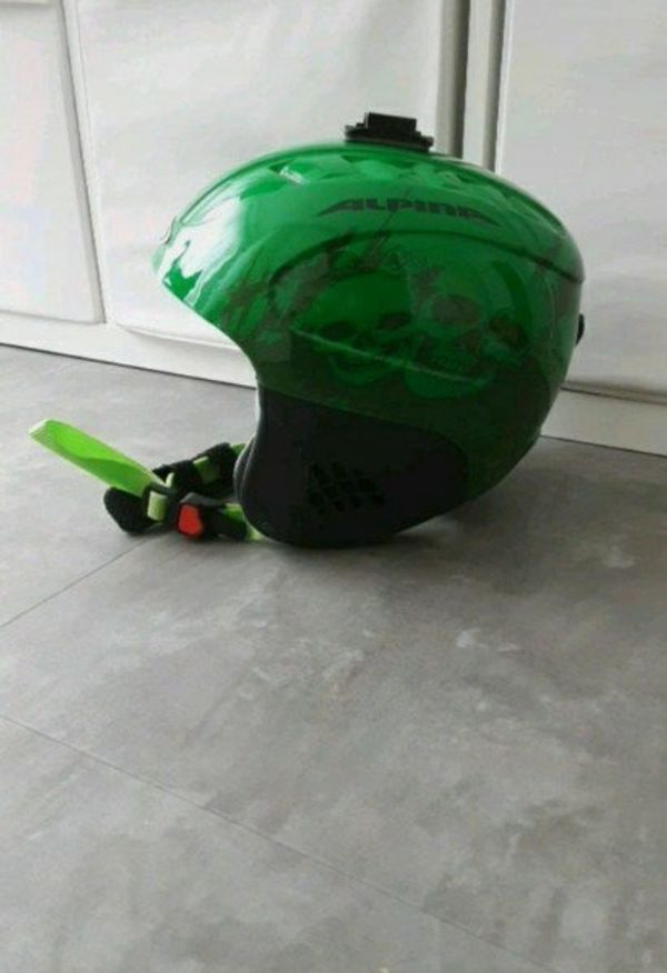 Ski Helm Alpina grün Jungen