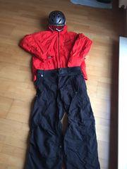 Neuwertige Ski-Kleidung plus Helm und