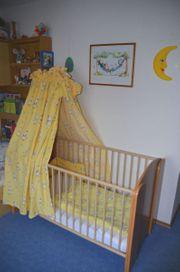 Babybett Himmel Nestchen Matratze 4fach