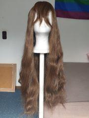 Braune gewellte Cosplay Kostüm Langhaar