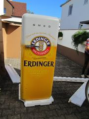 SMEG FAB28RWH3 Stand-Kühlschrank mit Werbefolie