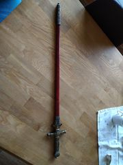 silbrig goldenes Deko Schwert von
