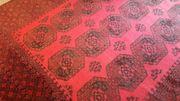 Teppich Afghan rot schwarz