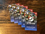 Steam Guthaben Karten gesamt 5x50EUR