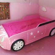 Rosa Kinderbett Mini mit Beleuchtung