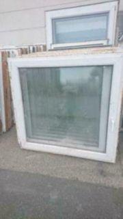 2 Kunststoff Fenster 136 cm