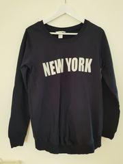 Schwangerschafts Sweat-Shirt in dunkelblau mit