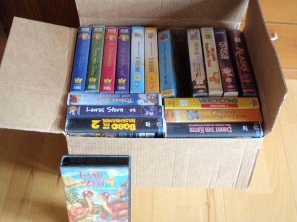Kinderfilme VHS 36 Videocassetten Disney , Dinos usw - Lampertheim - 36 Videocassetten kostenlos an Selbstabholer - kleine Spende für Behinderte wäre nett - muss aber nicht. -Filme siehe Bilder - . Versand für 9,50EUR möglich, für Selbstabholer kostenlos - Lampertheim