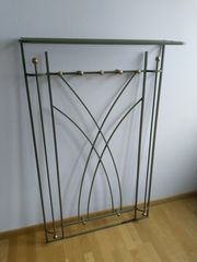 Garderobe Metall 130x80 Oliv Messing