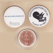 3 Buttons Anstecker Frankfurter Museen