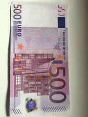 Originale seltene 500 Euro Banknote