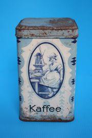 Alte antike Kaffeedose Blechdose mit
