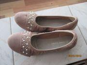 braune neue damen ballerina gr