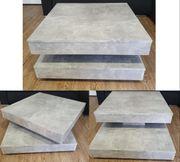 Couchtisch verstellbar 70x34x70cm Farbe Beton