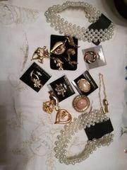 Broschen Set Konvolut Vintage Modeschmuck