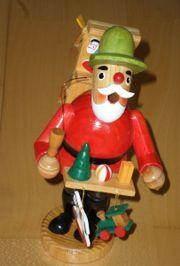 Räuchermännchen Weihnachtsmann 18 cm Krebs