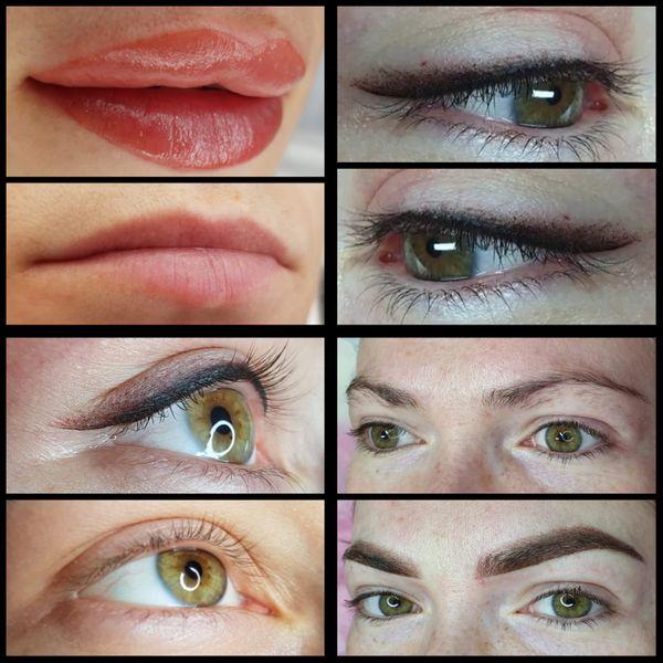 Permanent Make-Up Powder Brows Aquarell-Lippen