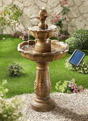 Solarbrunnen Kingsbury Gartenbrunnen Brunnen Wasserspiel