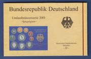 DM-Kursmünzensatz 2001 PP D