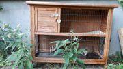 Holzstall für Kaninchen oder Meerschweinchen