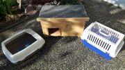 Katzenhaus Katzenklo und Transportbox