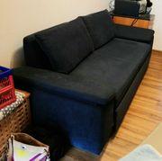 Schlafsofa Sofa Couch blau