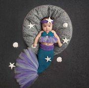Neugeborene Mädchen Adorable Meerjungfrau