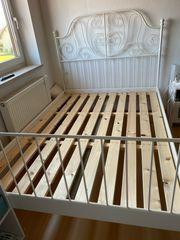 IKEA Metallbett 140x200 mit Lattenrost