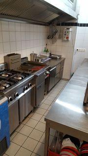 Gastronomie Küche komplett Edelstahl Gasherd